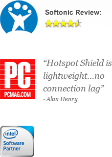 Hotspot Shield is lightweight... no connection lag